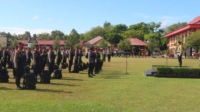 PSBB di Kapuas, Sebanyak 130 Personel Polda Kalteng BKO Polres Kapuas, Ini Tugasnya