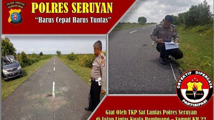 Inova Berpenumpang 13 Orang Terguling di Jalan Sungai Bakau Kuala Pembuang, Satu Bocah Tewas