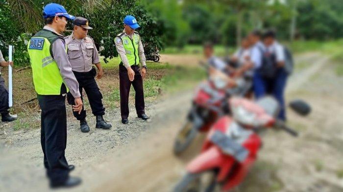 Berani Kendarai Motor Tanpa Kenakan Helm, Sejumlah Pelajar SMP di Pulpis Langsung Ditegur Polantas