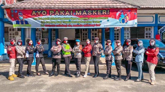 Aksi Maskerisasi Cegah Covid-19 di Kapuas, Sekaligus Deklarasi Pilkada Damai