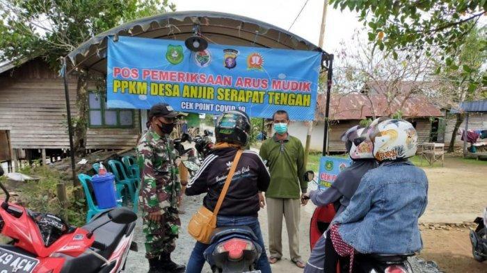 Selain Jalur Utama Perbatasan Masuk Kalteng, Petugas Juga Jaga Jalur 'Tikus' di Anjir Serapat Kapuas