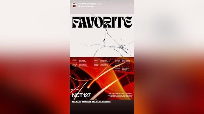 Poster dan jadwal rilis album repackage Favorite NCT127