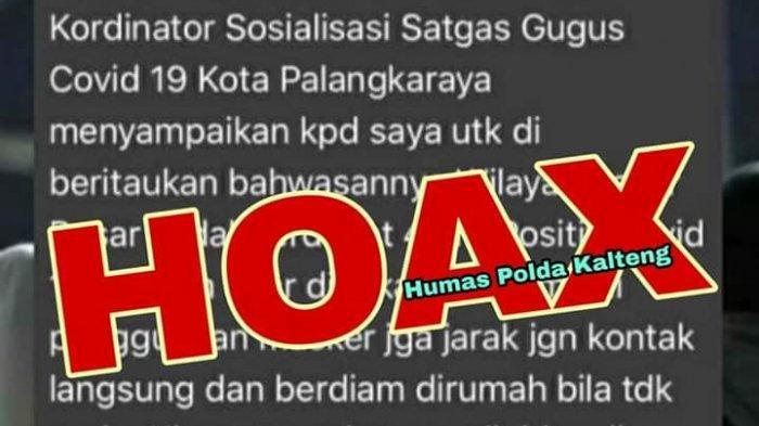 Polda Kalteng Gencar Patroli Siber untuk Berantas Hoaks Saat Pandemi Covid-19