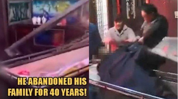 VIRAL Video Kemarahan Anak, Seret Jenazah Ayahnya dari Peti Mati Lalu Menampar Wajah yang Kaku