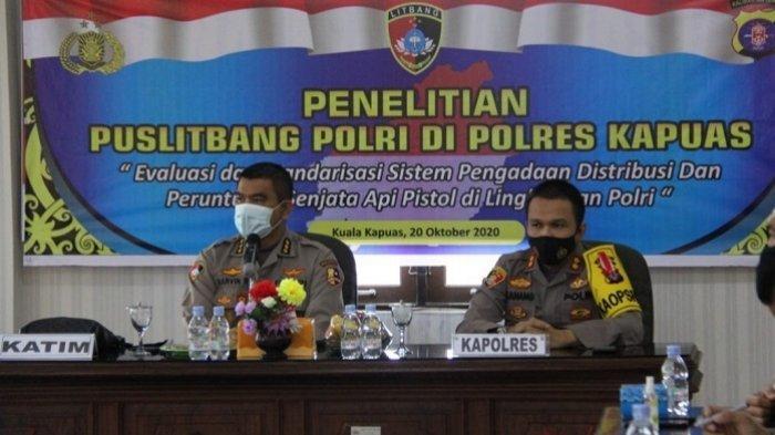 Datangi Polres Kapuas, Puslitbang Polri Teliti Standarisasi dan Distribusi Senjata Api