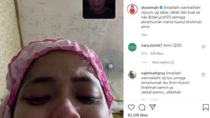 Penyanyi dangdut Soimah yang turut menyampaikan rasa dukanya melalui postingan Instagram @showimah Kamis, 23 September 2021