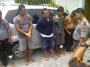 Aparat Polresta Palangkaraya Tembak Lima Spesialis Rampok