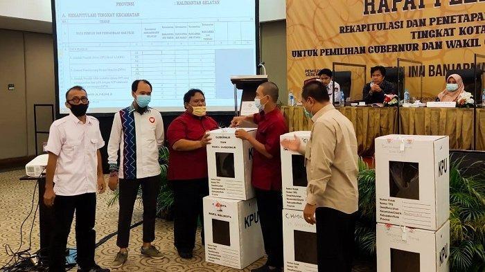 Resmi, Ibnu Sina-H Arifin Noor Menangkan Pilkada Banjarmasin, Raih Suara Terbanyak Rekapitulasi Kota