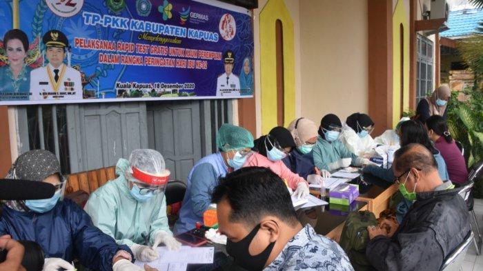 Momen Hari Ibu, Rapid Test Gratis Dilaksanakan di Kapuas