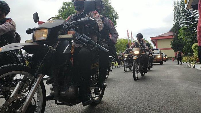 Jelang Sidang MK Gugatan Paslongub Ben-Ujang, Polda Kalteng Gelar Patroli Skala Besar