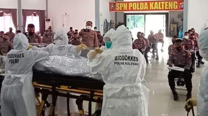 138 Anggota Satker Polda Kalteng dan Jajaran Polres Dilatih Pemulasaran Jenazah Covid-19
