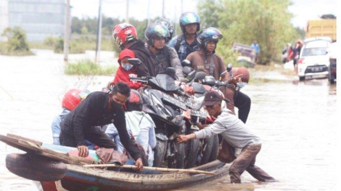 Banjir Bukit Rawi Trans  Kalimantan Poros Tengah Belum Surut, Begini Kondisinya Saat Ini