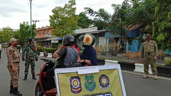 Damkar dan Satpol PP Kualakapuas Kalteng Gelar Razia Masker, Ini Tujuannya