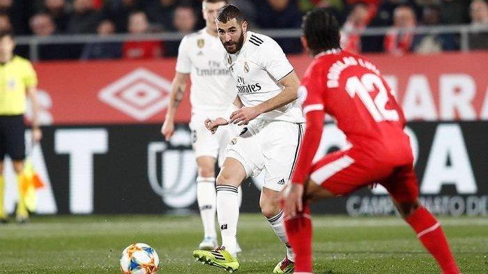 2 Gol Karim Benzema, Real Madrid Ungguli Girona 45 Menit Pertama di Copa Del Rey