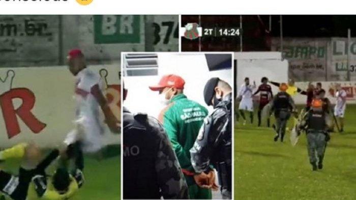 Pesepak Bola Ini Tinju Wajah dan Tendang Kepala Wasit Hingga Pingsan, Dijerat Percobaan Pembunuhan