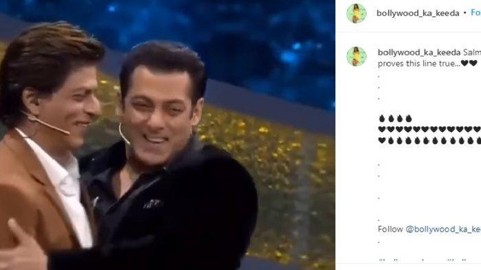 Video Viral di Medsos, Pembuktian Salman Khan dan Shah Rukh Khan Miliki Hubungan Emosional