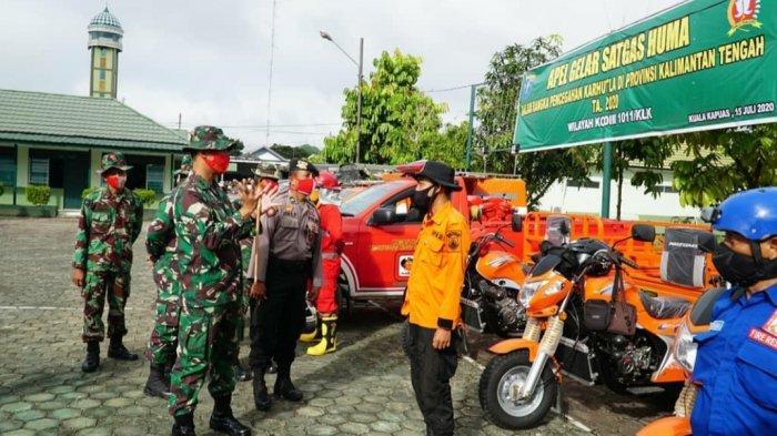 Kodim 1011/Kuala Kapuas Gelar Apel Satgas Huma, Siap Cegah dan Antisipasi Dini Karhutla