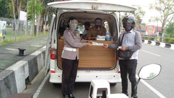 Cegah Covid-19, Satlantas Polres Kapuas Optimalkan Pelayanan Samsat Keliling
