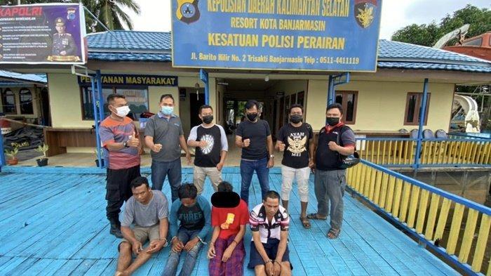 Narkoba Kalsel, Kedapatan Simpan Sabu, Motoris Kelotok di Banjarmasin Ini Terjun ke Sungai Martapura