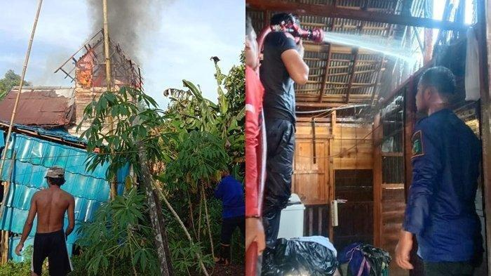 Satu Rumah di Atuatu Tanahlaut Dilalap Api, Laptop dan Uang Belasan Juta Turut Ludes