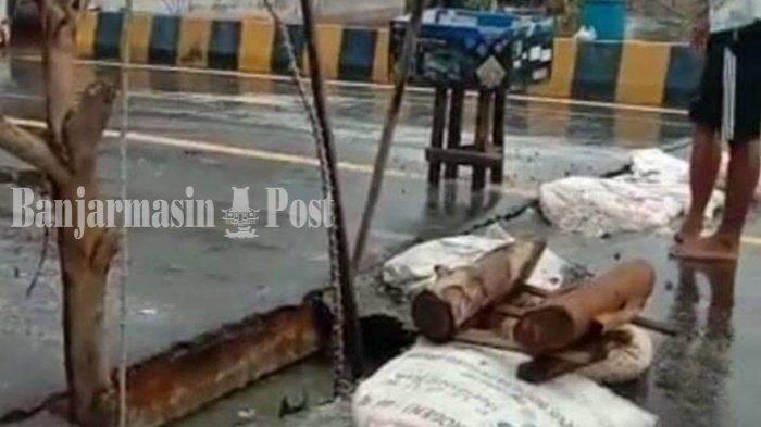 Oprit Jembatan di Jejangkit Rusak, Pengendara Arah Banjarmasin- Marabahan Diminta Hati-hati