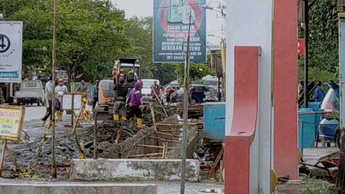 Drainase Rawan Banjir Jalan Rajawali Palangkaraya Kalteng Mulai Dibenahi, ini Respons Warga