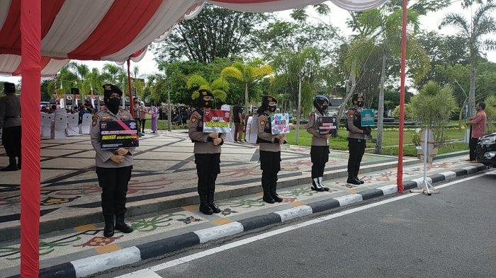 17 Pengendara Terjaring Tanpa Masker Melintas di Simpang Empat Jalan Pinus dan Karet Palangkaraya