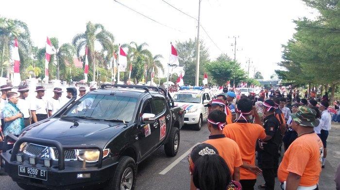 Tim Touring Merah Putih Polda Kalteng Sampai di Kobar Menuju Lamandau