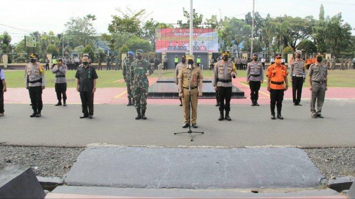 Sekda Kapuas Pimpin Apel Peniadaan Mudik Lebaran di Kabupaten Kapuas, Teken Deklarasi Bersama