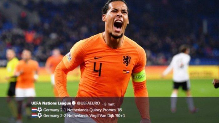 Belanda ke Puncak Klasemen dan Lolos ke Final UEFA Nations League Usai Main Seri Kontra Jerman