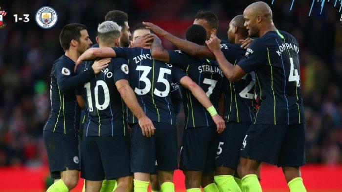 Manchester  City Rebut Kembali Posisi 2 Usai Taklukkan Southampton dengan Skor 3-1
