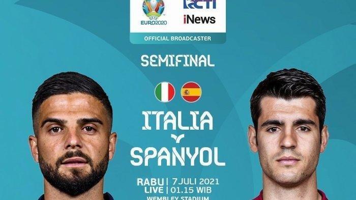 Sebentar Lagi Live RCTI, Semifinal EURO 2020 Italia vs Spanyol, Ini Alasan Azzurri Lebih Diunggulkan