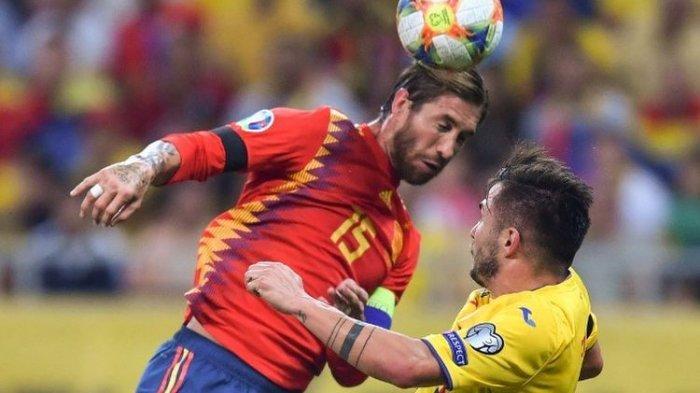 Sergio Ramos dan Paco Alcacer Menangkan Timnas Spanyol Kontra Rumania Kualifikasi Piala Eropa 2020