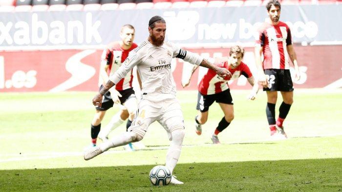 Hasil Liga Spanyol : Athletic Bilbao vs Real Madrid Skor 0-1, Penalti Ramos Menangkan Los Blancos