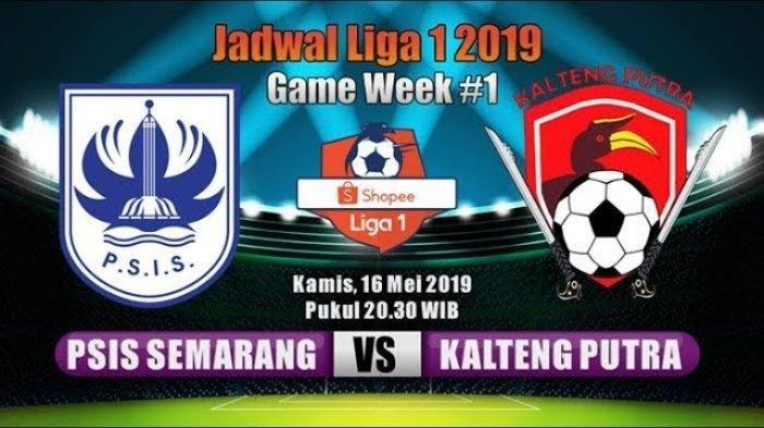 Live Streaming Ochannel PSIS vs Kalteng Putra Shopee Liga 1 Live Vidio.com Malam Ini Pukul 20.30 WIB
