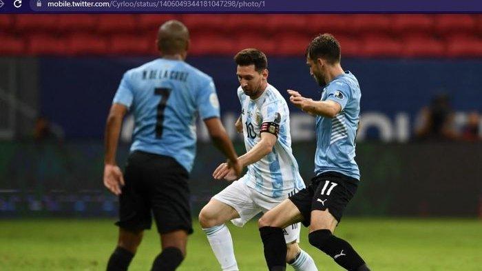 Hasil Copa America 2021 Hari Ini, Skor Argentina vs Uruguay 1-0, Messi dan Suares Mandul