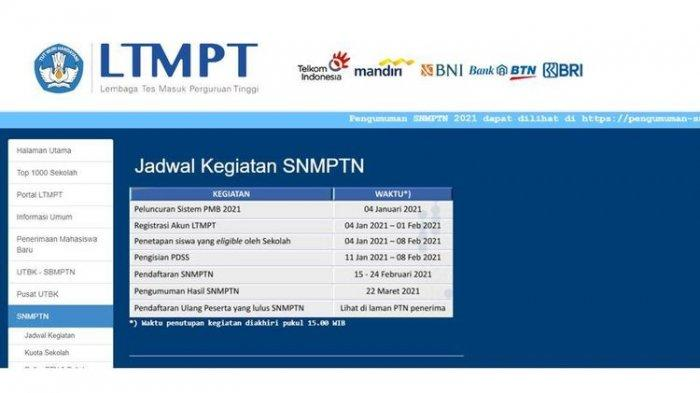 Siang Ini Hasil SNMPTN 2021 Diumumkan, Yang Tidak Lolos Masih Ada 2 Jalur Lain