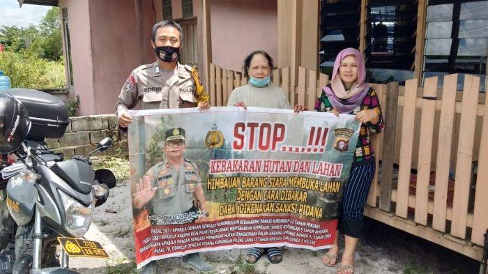 Sosialisasi Larangan Membakar Lahan Gencar di Pinggiran Kota Palangkaraya