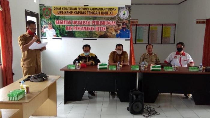 UPT KPHP Kapuas Tengah Unit XI Sosialisasi Perlindungan dan Pengamanan Hutan