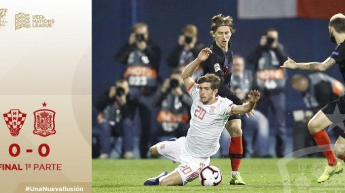 Di Liga A Grup 4 UEFA Nations League, Tim Tamu Spanyol Bermain Seri Tanpa Gol Kontra Kroasia