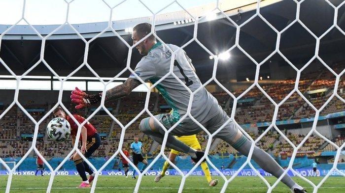 Hasil EURO, Skor Polandia vs Slovakia 1-2 dan Skor Spanyol vs Swedia 0-0, Berikut Klasemen Grup E