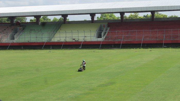 Perbaikan sarana Stadion Tuah Pahoe Palangkaraya Kalimantan Tengah dipercepat Jelang Laga Liga 2 2021  Kamis (30/6/2021).
