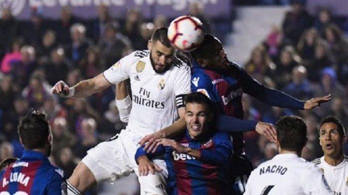 Hasil Liga Spanyol, Duel Panas Real Madrid Vs Levante Berakhir dengan Kemenangan Los Blancos