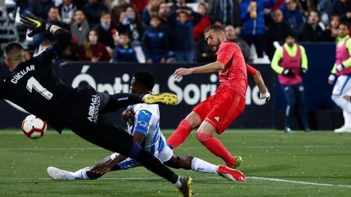 Karim Benzama Cetak Gol, Real Madrid Vs Leganes di Liga Spanyol Bermain Seri 1-1