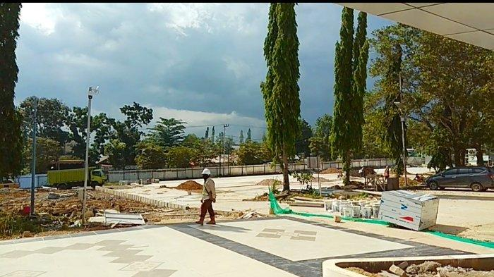 Dinas PUPR Banjarbaru Kalsel Kebut Pengerjaan Landscape Pasar Bauntung