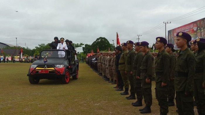 Gubernur Sugianto Pimpin Upacara HUT ke-72 Brimob di Markas Tentara