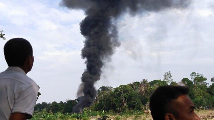 Tambang Minyak Ilegal di Muratara Sumsel Meledak, Lokasi Depan Kantor Camat