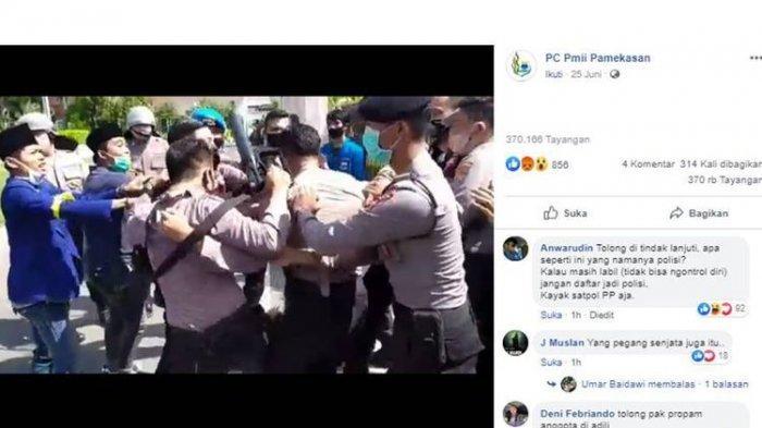 VIRAL Video Polisi Lakukan Tindakan Tak Terpuji pada Pendemo di Pamekasan, PMII Mengutuk Keras