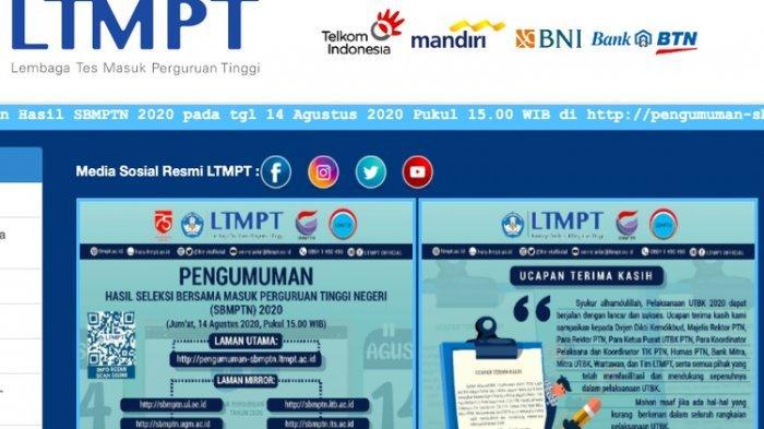 Live Streaming YouTube Konferensi Pers Daring Pengumuman SBMPTN 2020, Siang Ini