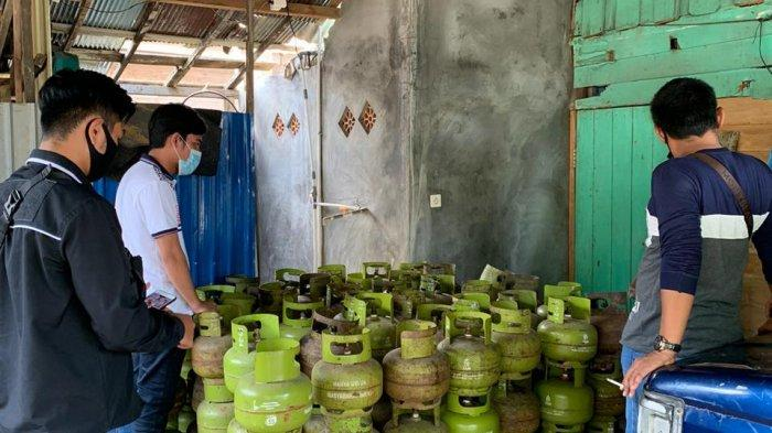 Satreskrim Polres Tabalong Temukan Dugaan Penyimpanan Gas 3 Kilogram Tanpa Izin Usaha